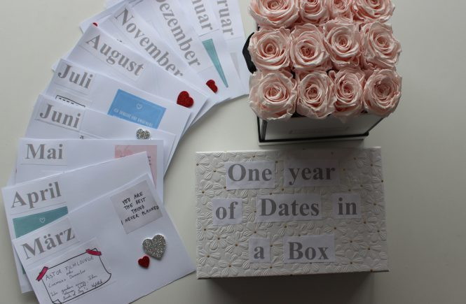 Geschenkidee: One year of dates in a box