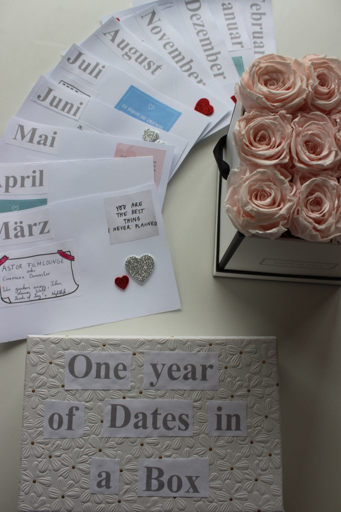 One year of dates in a box