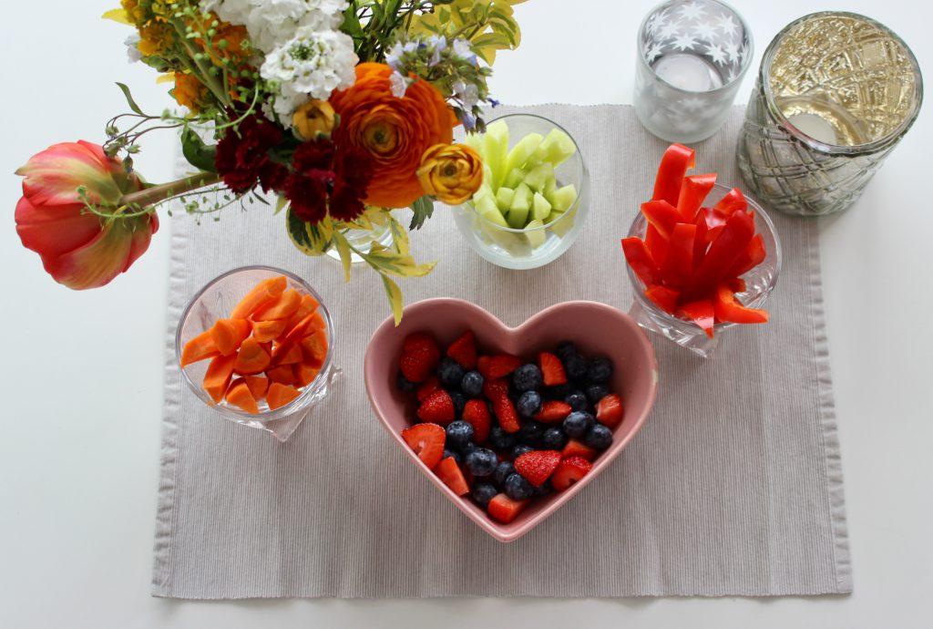 Snack Gemüse und Obst